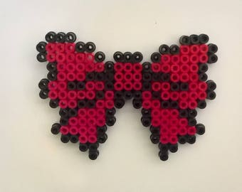 Big bow magnet made of fuse beads