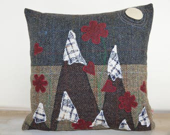 Love on a Mountain Top, complete Harris Tweed cushion