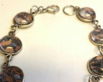 Gila monster lizard bracelet, lizard jewelry, reptile jewelry, lizard skin bracelet, reptile skin bracelet, nerdy jewelry, reptile accessory