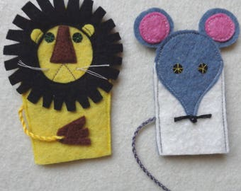 Finger puppets  The lion and the mouse