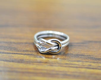 Gorgeous Sterling Silver knot Dainty Friendship ring