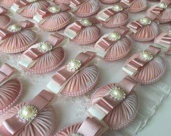 LUXURY Wedding Favours/ Soaps/Velvet/Ribbon