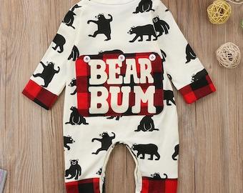Bear Bum Baby Jumpsuit