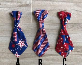 Patriotic Dog Tie l Pet Tie