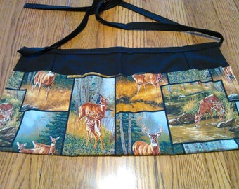 Waitress Apron Deer in the Forest