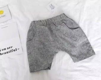 TAMKIDS Boy shorts Stylish cotton pants Gray color.