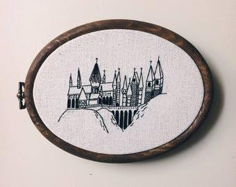 Hogwarts School Embroidery