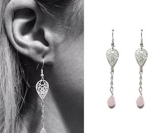 fresco silver and quartz earrings