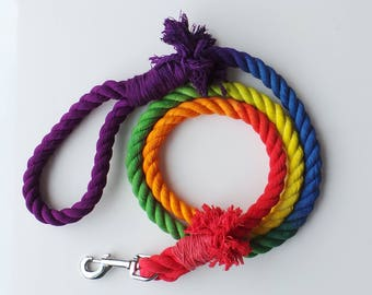 RAINBOW  || Ombre Rope Leash || 16mm