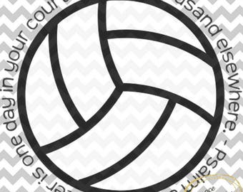 Volleyball Psalm 84:10 SVG