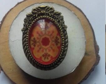 """Orange """"flower"""" ring"""
