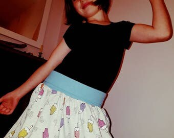 Cotton Jersey Skater Skirt