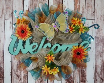 Intro to my shop! Welcome, All Occasions, Birthday, Mother's Day, Housewarming, Welcome Wreath, Flower Wreath, Spring Wreath, Summer Wreath