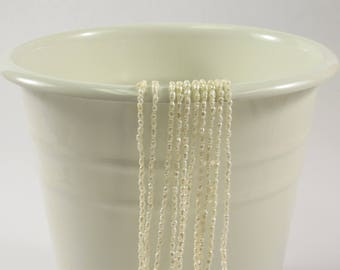 1.5-2 x 3 mm Natural White Rice Tiny Freshwater Pearls, Dainty Freshwater Pearl Beads, Genuine Natural Rice Freshwater Pearls (631-RW0203)