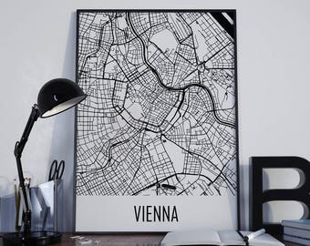 Vienna Map Vienna Street Map Vienna City Map Vienna Travel Map Vienna Map Poster Vienna Map Photo Vienna Map Print Vienna Map Art Vienna Art