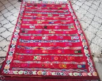 Good Vintage Berber Rug Moroccan,6.9 X 4 Ft/212cmX125cm Amazigh Style