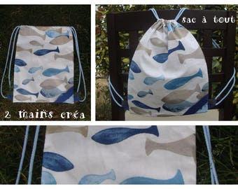 Fish coated cotton backpack