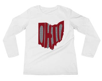 OHIO Ladies' Long Sleeve T-Shirt