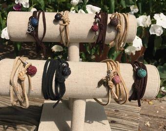 Suede wrap bracelets (without charm)