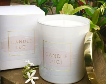 Jasmine Scented Soy Candle