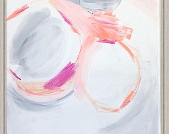 Original Abstract Wall Art Inspired by Britt Bass Turner Pink Abstract Modern Painting