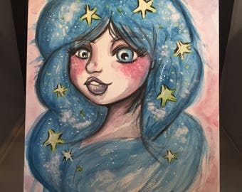 Star Dreamer A4 ORIGINAL ARTWORK