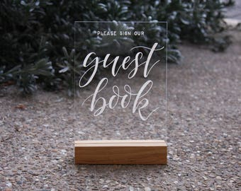 Wedding Guestbook Sign. Acrylic Sign. Sign Our Guest Book. Wedding Decor. Perspex Wedding Signage. Sign In Table.
