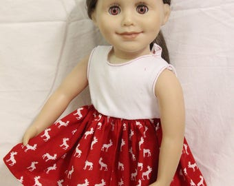 "150th Birthday of Canada Moose Dress For 18"" Dolls"