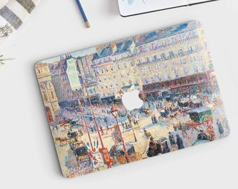 "Camille Pissarro, ""Place du Havre, Paris"". Macbook 15 skin, Macbook 13 skin Pro Air, Macbook 12 skin. Macbook decal. Macbook Art skin."
