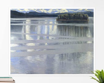 "Akseli Gallen-Kallela, ""Lake Keitele"". Art poster, art print, rolled canvas, art canvas, wall art, wall decor"