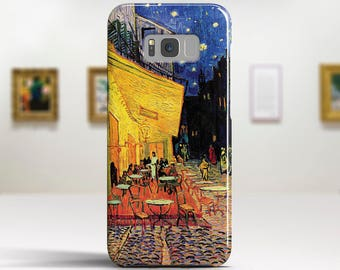 "Vincent van Gogh, ""Cafe Terrace at Night"". Samsung S8 Case, Samsung S7 Case, Samsung S6 Case, Huawei, LG, Google Pixel Cases."