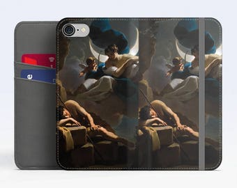 "Ubaldo Gandolfi, ""Selene and Endymion"". iPhone 8 Wallet case, iPhone 7 Wallet case  iPhone 6 Plus Wallet case. Samsung Wallet cases."