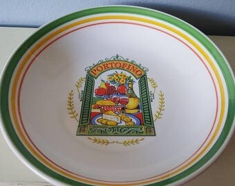 Vintage large Pasta bowl made in Italy.