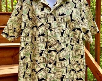 Money Shirt Hawaiian Style Shirt