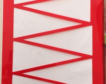 Triangles Stencil