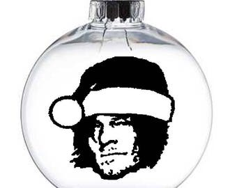 Daryl Dixon Walking Dead Walker Zombie  Christmas Ornament Glass Disc Holiday Horror Merch Massacre