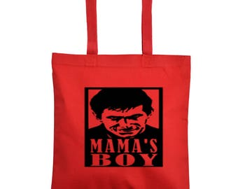 Psycho Norman Bates Mama's Boy Bates Motel Horror Canvas Tote Bag Market Pouch Grocery Reusable Merch Massacre Black Friday Christmas