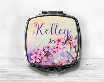 Personalized Compact Mirror - Custom Name Mirror