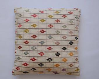 "Kilim rug pillow cover 20""x20"" (50x50cm) 049"