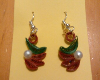 Quilled Christmas Earrings