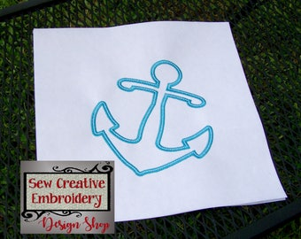 Anchor Embroidery Design, Anchor Applique Design, Embroidered Anchor, Nautical Anchor - Machine Embroidery Files - Digital Download Only