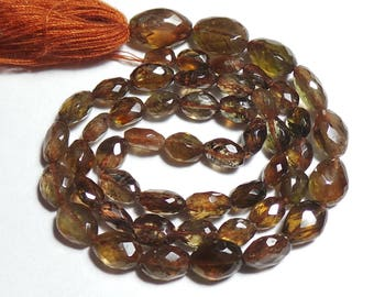 Super Top Quality Natural Andalusite 6x4-11x7 MM Faceted Nuggets Shape  14 Inch Strand