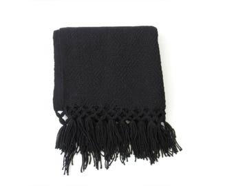 black mexican rebozo / ethnic textile