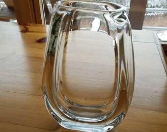 Vintage Scandinavian Glass / Scandinavian Decor / Mid Century Modern Decor / Modern / Handmade Glass / Bohemian Decor / Mid Century Art Vase