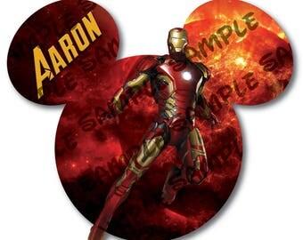Disney Cruise Door Magnet / Avengers / Iron Man / Tony Stark Mickey Ears