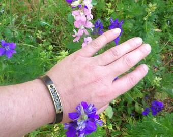 Brown leather unisex bracelet