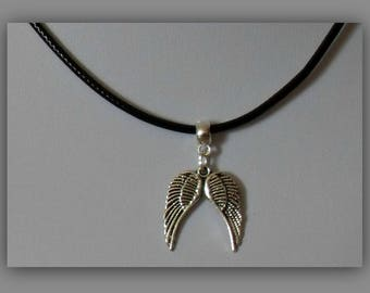 Angel Wing Choker,Angel Choker Necklace,Silver Angel Wing Choker Necklace,Charm Choker,Silver Charm Choker