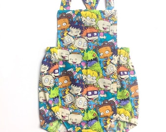 Rugrats, rugrats romper, the rugrats, 90's, spring dress, baby girl clothes, birthday outfit, birthday outfit, spring outfit,