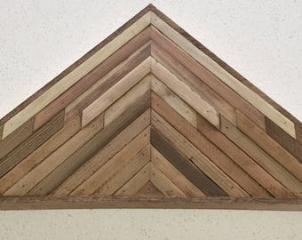 Rustic Reclaimed Wood Triangle Wall Art