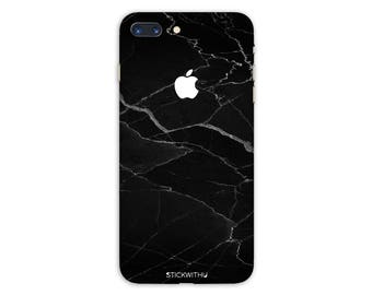 Black Marble iPhone Skin marble iPhone Sticker Case Black Marble iPhone Decal  iPhone 7  plus iPhone 6 iPhone 6s 6 plus 5 5s SE PS001